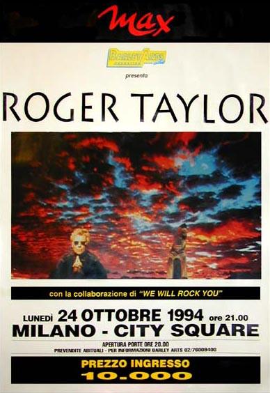 Plakat promujący koncert w Leeds, 24 października 1994 r.; fot.: queenconcerts.com