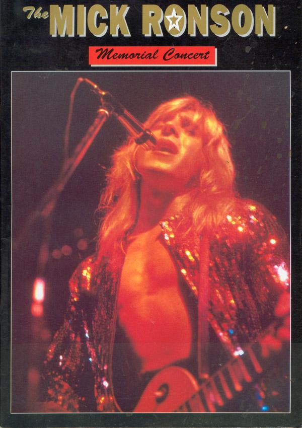Program Mick Ronson Memorial Concert; fot.: queenconcerts.com
