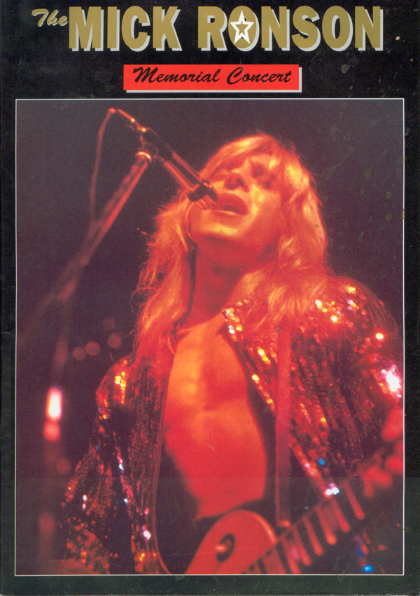 Program Mick Ronson Memorial Concert; fot.: queenconcerts.com