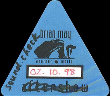 Przepustka (2 października 1998 r., Berlin); fot.: queenconcerts.com