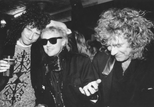 Brian May, Roger Taylor i Robert Plant; fot.: rockwithroll.tumblr.com