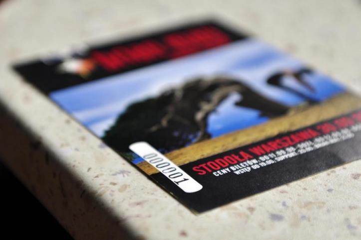 Bilet z koncertu w Stodole o wyjątkowym numerze seryjnym 00001; fot.: Radosław Lis