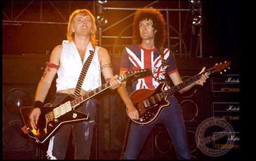 Brian podczas koncertu Def Leppard, 11 września 1983 r.; fot.: queenconcerts.com
