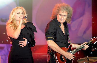 Kerry Ellis i Brian May podczas Proms in the Park w Hyde Parku, Londyn, 11 września 2010 r.; fot.: queenconcerts.com