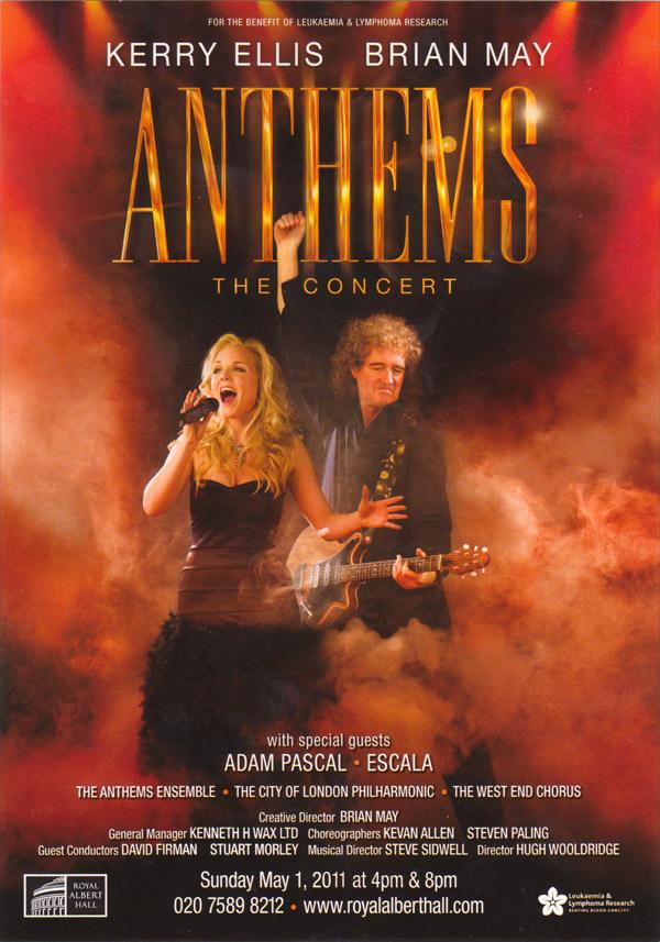 Plakat promujący trasę Anthems; fot.: queenconcerts.com