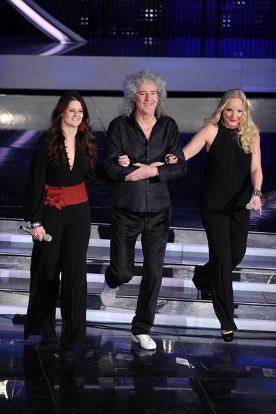 Irene Fornaciari, Brian i Kerry; Sanremo Festival, 16 lutego 2012 r.; fot.: queenconcerts.com