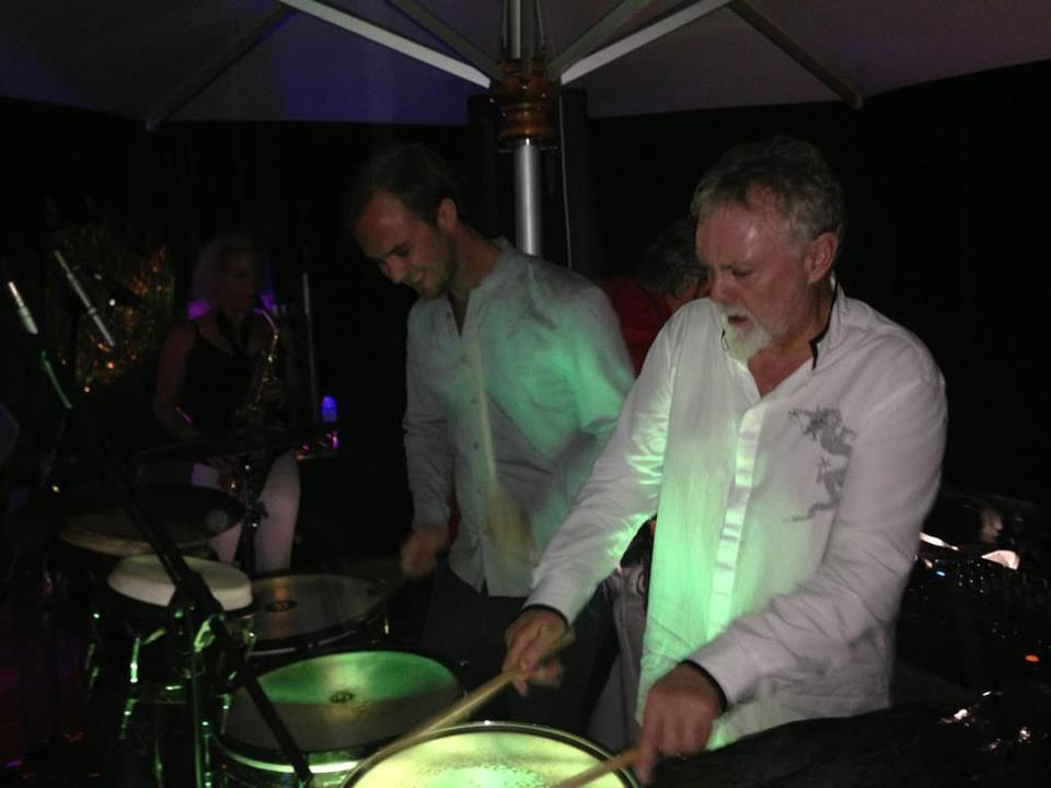 Harry Rutherford i Roger Taylor, 28 grudnia 2012 r.; fot.: queenconcerts.com