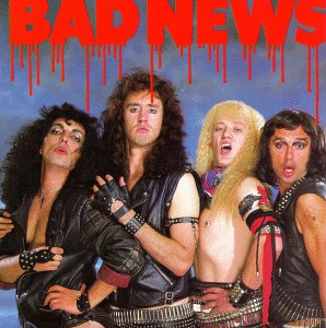 Okładka debiutanckiego albumu Bad News, producent - Brian May; fot: wikimedia.org