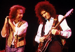 Paul Rodgers i Brian May, 9 lutego 1994 r., Londyn; fot.: queenconcerts.com