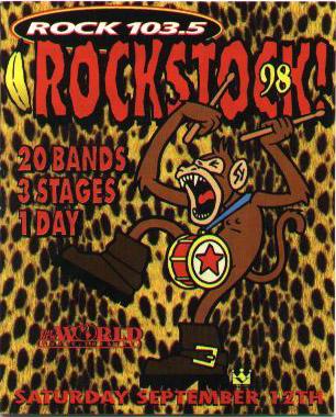 Plakat Rockstock 1998 r.; fot.: queenconcerts.com