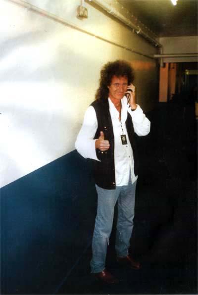 Przed koncertem Motörhead, Brixton Academy, 22 października 2000 r.; fot.: queenconcerts.com