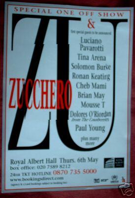 Plakat promujący koncert ZU & Co, wśród gości - Brian May; fot.: queenconcerts.com