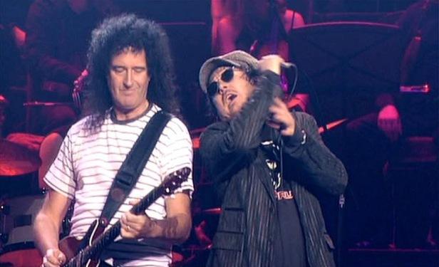 Brian i Zucchero, Royal Albert Hall, 6 maja 2004 r.; fot.: queenconcerts.com
