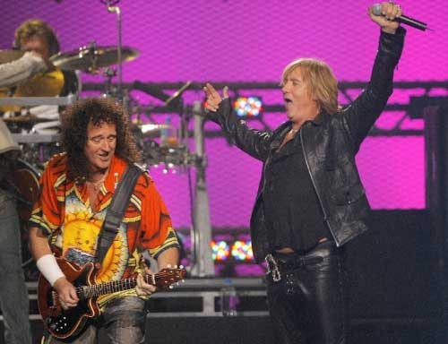 Brian i Joe Elliot, VH1 Rock Honors, Las Vegas, 25 maja 2006 r.; fot.: brianmay.com