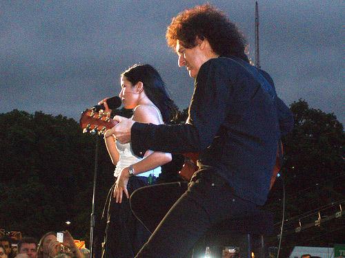 Brian i Andrea Corr, Hyde Park, 27 czerwca 2008 r.;fot.: queenconcerts.com