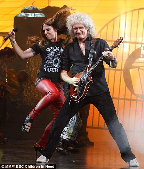 Mel C i Brian, We Will Rock You, Dominion Theatre, 13 września 2011 r.; fot.: MMP/BBC Children in Need