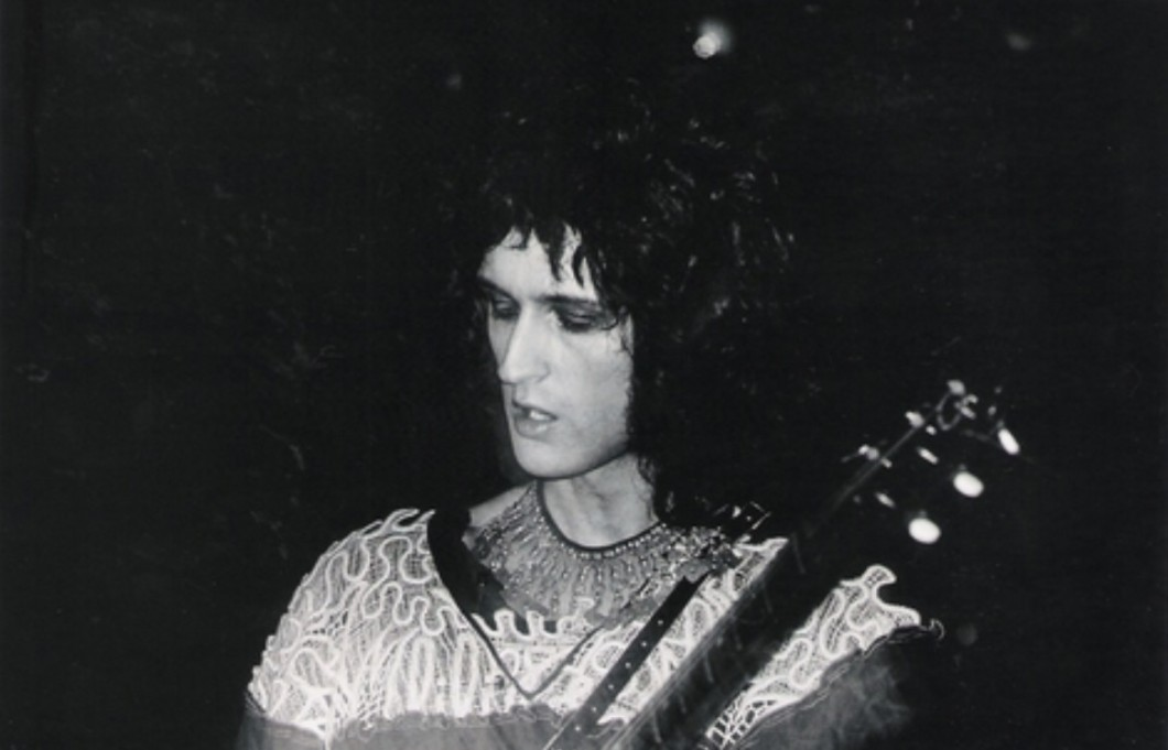 Bad make-up day... Brian w Imperial College, 2 listopada 1973 r.; fot.: queenlive.ca