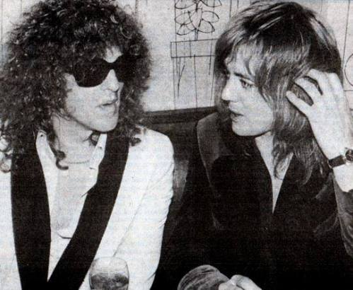 Ian Hunter i Roger Taylor, after party po koncercie w Beacon Theatre, 5 lutego 1976 r.; fot.: queenlive.ca