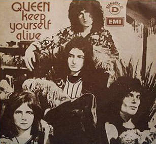 Angolska okładka singla Keep Yourself Alive; fot.: queenpedia.com