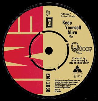 Brytyjski singiel Keep Yourself Alive; fot.: queenpedia.com