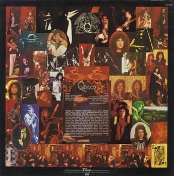 Kolaż wykonany przez Briana i Freddiego wykorzystany na tylnej okładce albumu