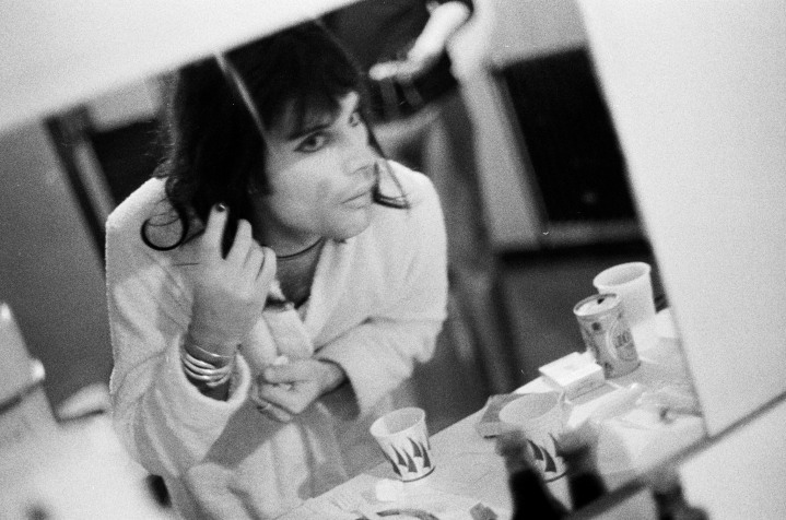Freddie Mercury backstage