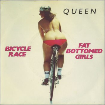 Queen+-+Bicycle+Race+-+Fat+Bottomed+Girls+-+7-+RECORD-7359