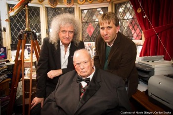 Brian, Sir Patrick Moore i Chris Lintott; fot.: brianmay.com