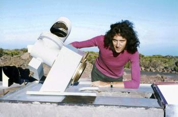 Brian w Teide Observatory na Teneryfie, 1971 r.; fot.: astronomy.com