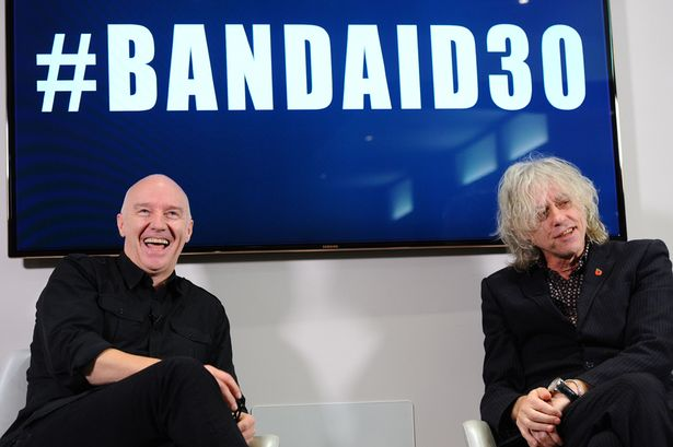Bob-Geldof-attends-a-press-Briefing-to-launch-BandAid30