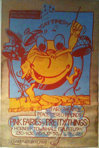 Plakat promujący koncert w Hornsey Town Hall, 19.02.1971 r.; fot.: queenconcerts.com