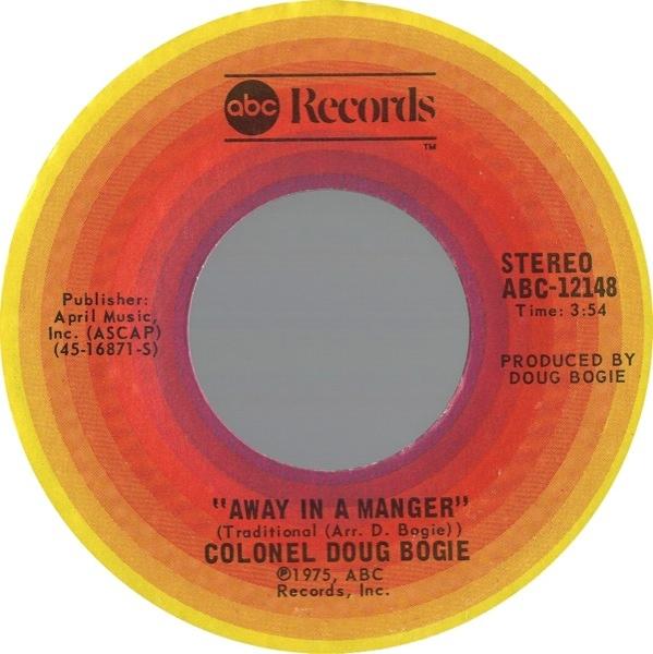 Singiel Away In A Manger/Cokey Cokey z 1975 r. (jako Colonel Doug Bogie); fot.: discogs.com