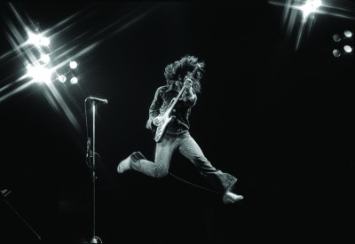 Rory in full flight at The Venue, London, in 1980 (© Fin Costello). taken from  Rory Gallagher - His Life and Times by Marcus Connaughton, published by The Collins Press, 2012