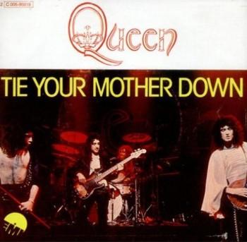 Francuska okładka singla Tie Your Mother Down; fot.: queenpedia.com